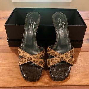 Couture Donald J. Pliner Leopard Heel Sandals